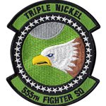 555th Fighter Squadron  (555 FS) Custom Patches