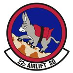 22d Airlift Squadron (22 AS) Custom Patches