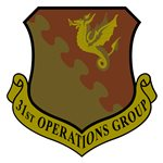 31st Operations Group (31 OG) Custom Patches