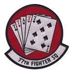 77th Fighter Squadron (77 FS) Custom Patches
