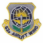62 AW McChord AFB U.S. Air Force Custom Patches