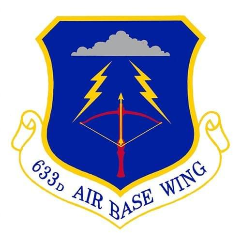 633 ABW Langley AFB, VA U.S. Air Force Custom Patches