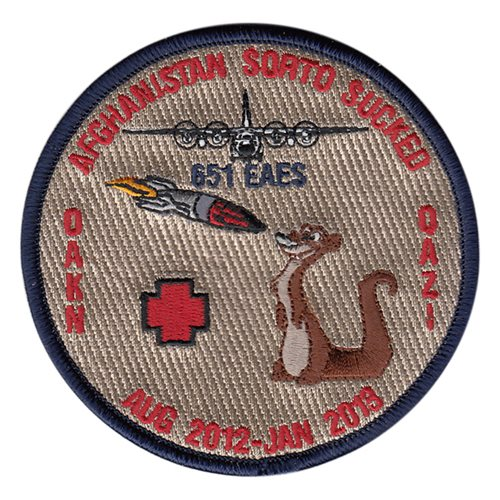 651 EAES International Custom Patches
