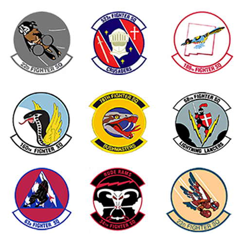 Inactive Squadrons F-16 Briefing Sticks Fighter Briefing Sticks