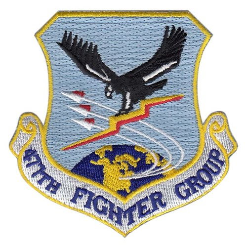 477 FG JBER U.S. Air Force Custom Patches