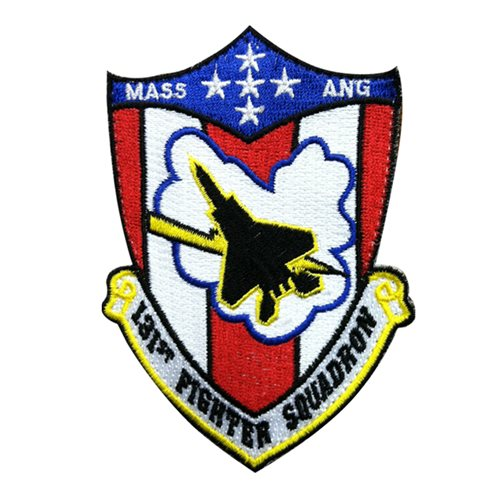 131 FS ANG Massachusetts Air National Guard U.S. Air Force Custom Patches