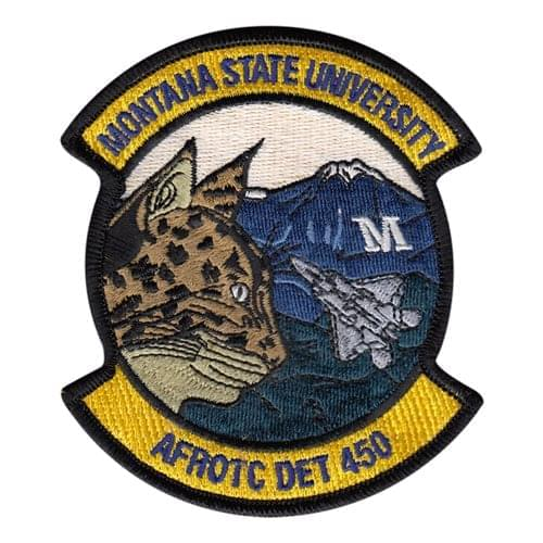 AFROTC Det 450 Montana University Air Force ROTC ROTC and College Patches Custom Patches