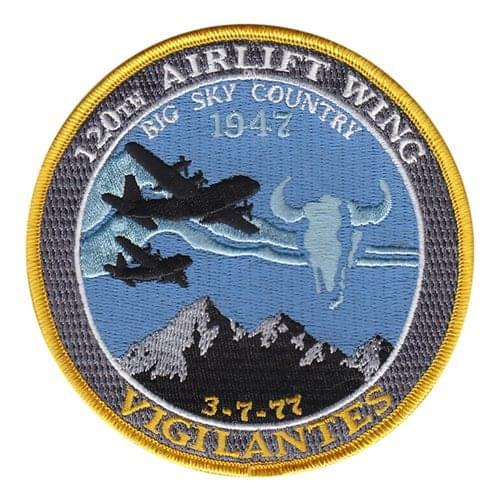 120 AW ANG Montana Air National Guard U.S. Air Force Custom Patches