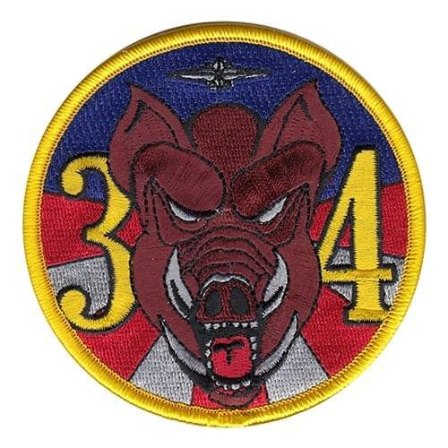 USAFA CS-34 USAF Academy U.S. Air Force Custom Patches