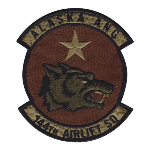 144 AS ANG Alaska Air National Guard U.S. Air Force Custom Patches