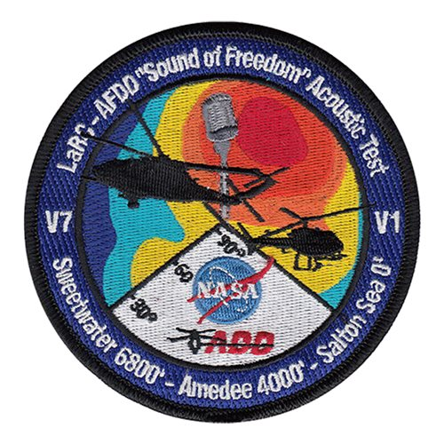 AFDD Acoustic Mission Civilian Custom Patches