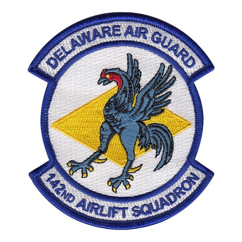 142 AS ANG Delaware Air National Guard U.S. Air Force Custom Patches