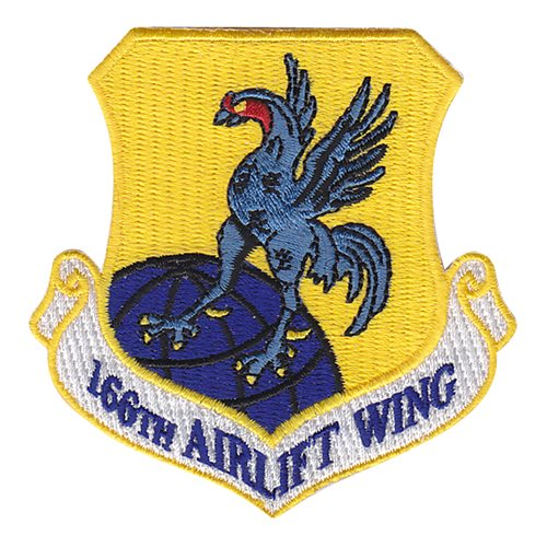 166 AW ANG Delaware Air National Guard U.S. Air Force Custom Patches