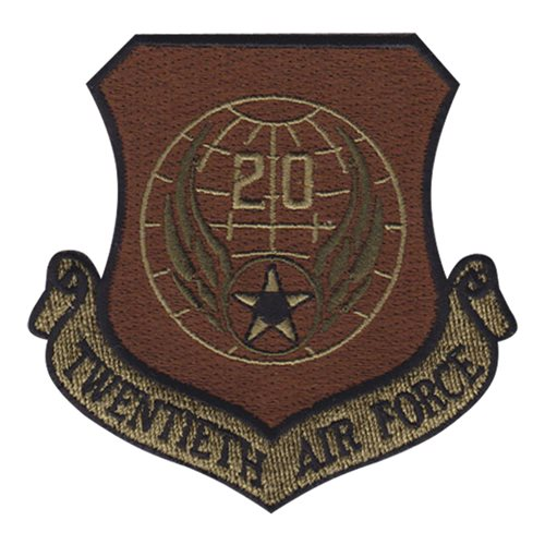 20 AF Numbered Air Forces U.S. Air Force Custom Patches