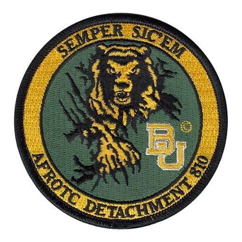 AFROTC Det 810 Baylor University AFROTC College, ROTC, Academy Patches Custom Patches