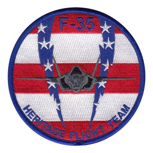 F-35 Heritage Flight Team Luke AFB U.S. Air Force Custom Patches