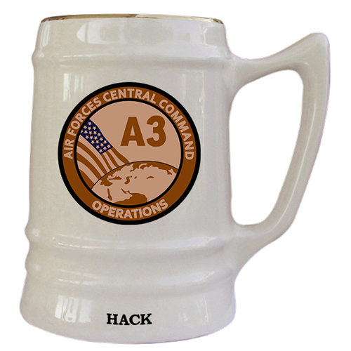 US Air Forces Central Squadron Mugs