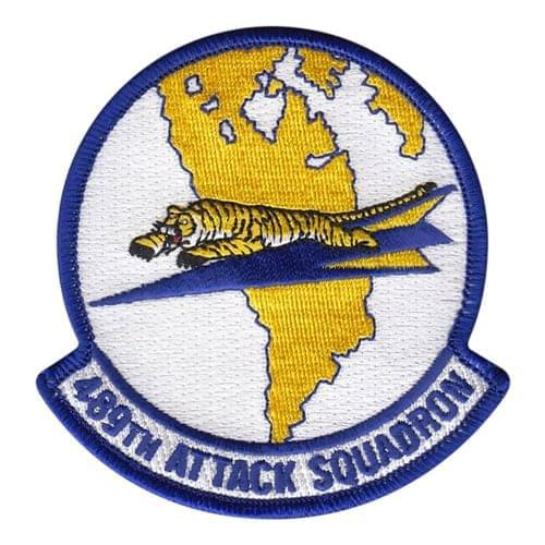 489 ATKS Creech AFB, NV U.S. Air Force Custom Patches