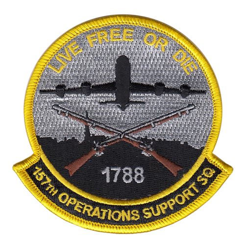 157 OSS Air National Guard U.S. Air Force Custom Patches