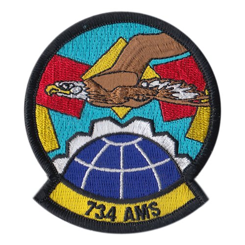 734 AMS Andersen AFB, Guam U.S. Air Force Custom Patches