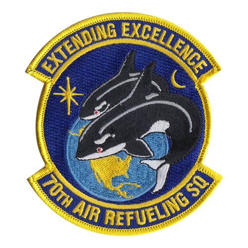 70 ARS Travis AFB U.S. Air Force Custom Patches