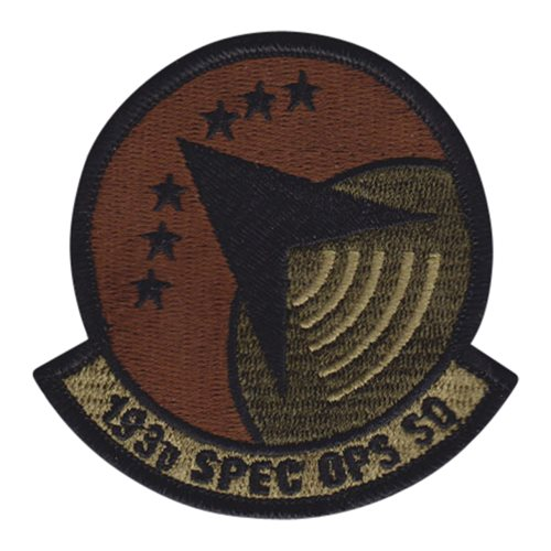 193 SOS Air National Guard U.S. Air Force Custom Patches