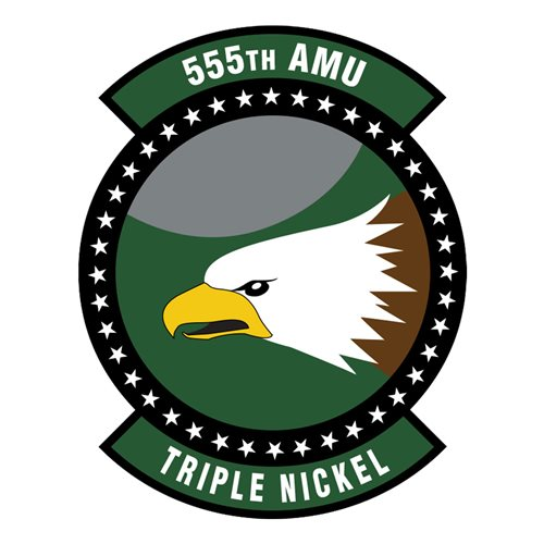 555 AMU Aviano AB U.S. Air Force Custom Patches