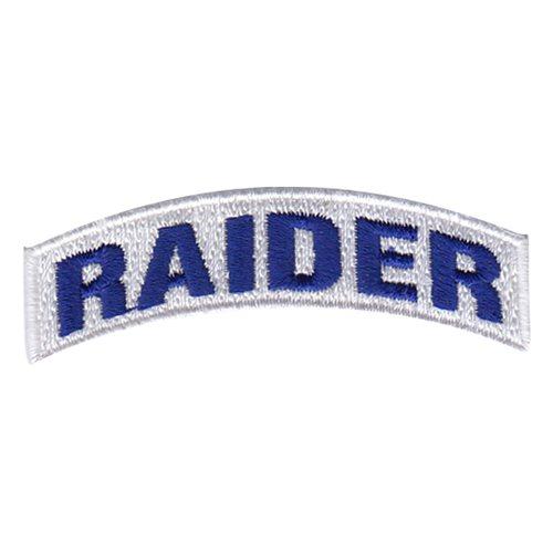 US ROTC RAIDER TAB PATCH YELLOW ON BLUE