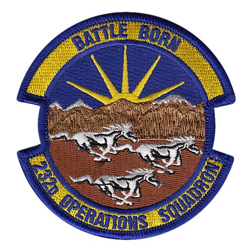 232 OS Nellis AFB U.S. Air Force Custom Patches