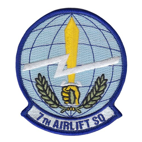 7 AS McChord AFB U.S. Air Force Custom Patches