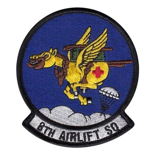 8 AS McChord AFB U.S. Air Force Custom Patches