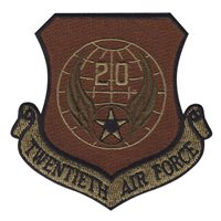 20th Air Force (20 AF) Custom Patches