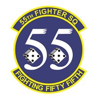 55th Fighter Squadron (55 FS) Custom Patches