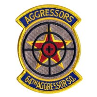 64th Aggressor Squadron (64 AGRS) Custom Patches