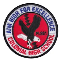 AFJROTC FL-861 Colonial High School Custom Patches