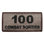 100 Combat Sorties Pencil Patch