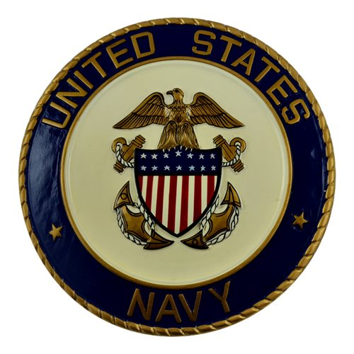Us Navy Seal Plaque Hand Carved Wooden Plaque