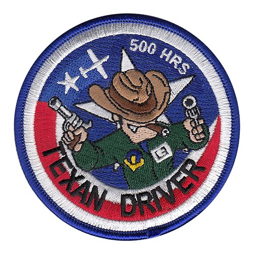 T-6A Texan Driver 500 Hours Patch