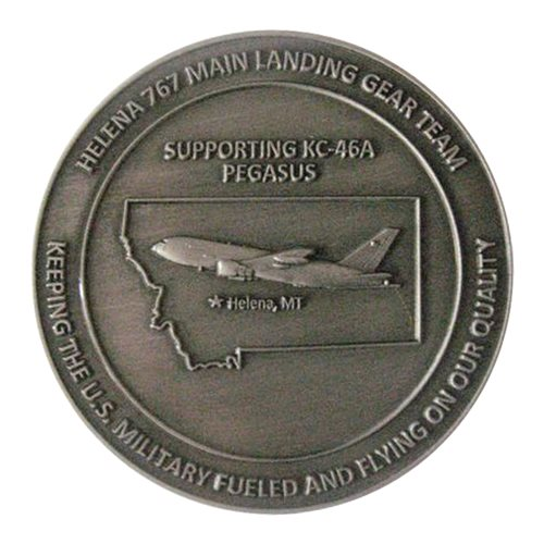 Boeing Helena 767 MLG Team Challenge Coin