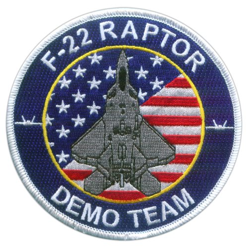 F-22 Demo Team White Patch