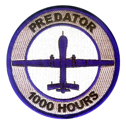 MQ-1 Predator 1000 Hours Patch