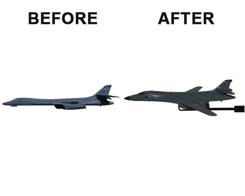 Aviator Gear B-1B Lancer Custom Briefing Stick Before/After Image