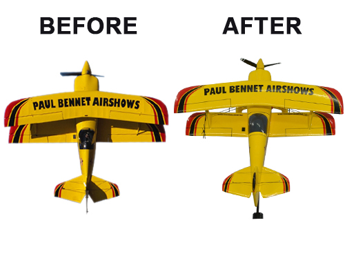 Aviator Gear Aerobatic Custom Briefing Stick Before/After Image