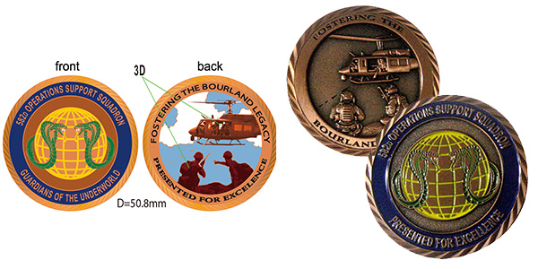 582 Operations Support Squadron Challenge Coin