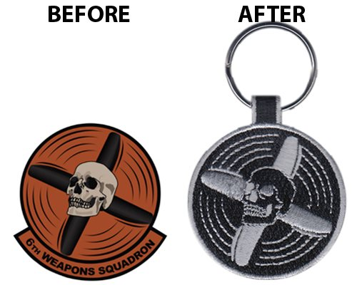 6th Weapon Squadron Keychain