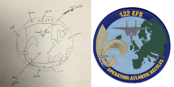 122nd Fighter Squadron Deployment Patch