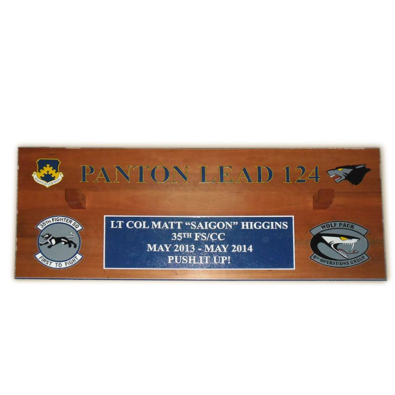 35 FS Gun Barrel Phantom Lead Plaque