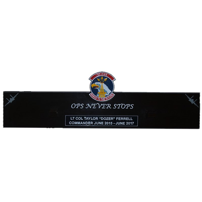 57 OSS Gun Barrel OPS Never Stops Plaque