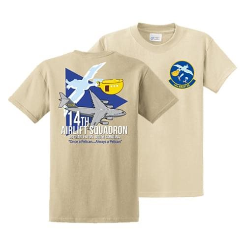 14th Airlift Squadron Light Sand Squardon Shirt