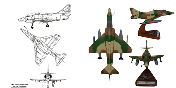 A-4 Skyhawk Attack Aircraft Models